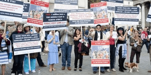 Demonstrating for Middle Eastern minorities